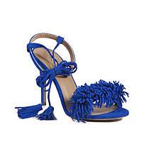 Босоножки Poletto бахрома 37 Синие (50755/37)
