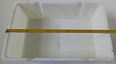 Ящик контейнер пластиковый 500х300х150мм белый для продуктов б/у, фото 3