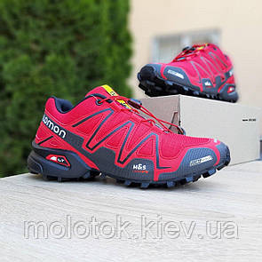 Чоловічі кросівки в стилі SALOMОN SPEEDCROSS 3 червоні