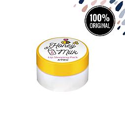 Молочно-медовая ночная маска для губ A'PIEU Honey & Milk Lip Sleeping Pack, 6.7 мл