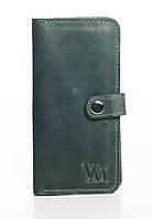 VM-Villomi Портмоне зеленого цвета из гладкой кожи
