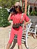 Женский летний спортивный костюм велосипедки и свободная удлиненная футболка 71rt910, фото 3