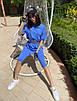 Женский летний спортивный костюм велосипедки и свободная удлиненная футболка 71rt910, фото 4
