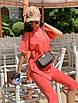 Женский летний спортивный костюм велосипедки и свободная удлиненная футболка 71rt910, фото 5