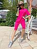Женский летний спортивный костюм велосипедки и свободная удлиненная футболка 71rt910, фото 6
