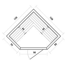 Инфракрасная сауна SunRays Corner Duos Grace (тип1), фото 3