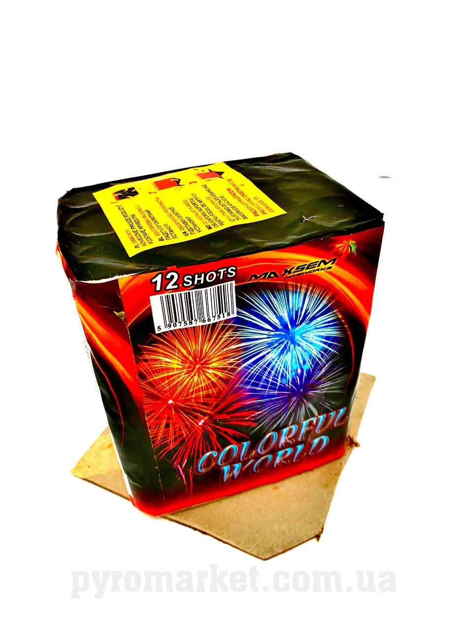 Салют Colorful World Maxsem GW218-93, 12 выстрелов 20 мм
