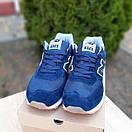 Чоловічі кросівки в стилі New Balance 574 сині, фото 4