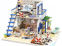 """Конструктор. Кукольный домик """"BLUE COAST"""" 3D (дерево, бумага, пластик, текстиль)"""
