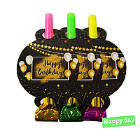"""Праздничный язычок гудок """"Happy Birthday (6шт.)"""