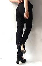 Батальные женские летние брюки №19 чорн. супер СОФТ (диагональка), фото 3