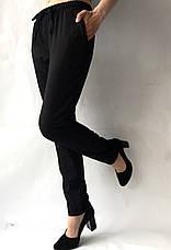 Батальные женские летние брюки №19 чорн. супер СОФТ (диагональка), фото 2