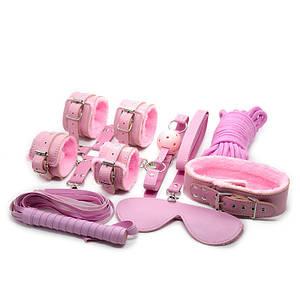 БДСМ набор Bondage Sex Toys Set 8 Pink