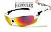 Спортивні окуляри захисні Global Vision Hercules-7 дзеркальні червоні в білій оправі