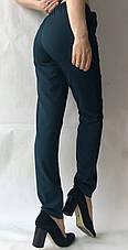 Батальные женские летние брюки №19 зеленый (бутилка). супер СОФТ (диагональка), фото 2