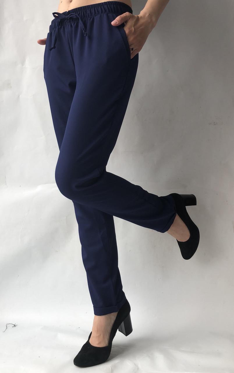 Летние брюки (супер софт, диагональка) , №19 темн. синий