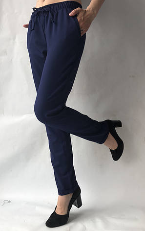 Летние брюки (супер софт, диагональка) , №19 темн. синий, фото 2