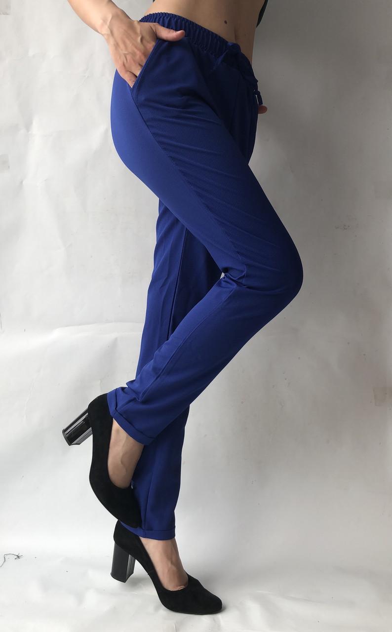 Летние брюки (супер софт, диагональка) , №19 электрик