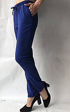 Летние брюки (супер софт, диагональка) , №19 электрик, фото 2