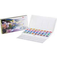 """Набор акварельных красок """"Белые ночи"""", 36 цветов, 2,5 мл, кюветы в пластике IWS"""