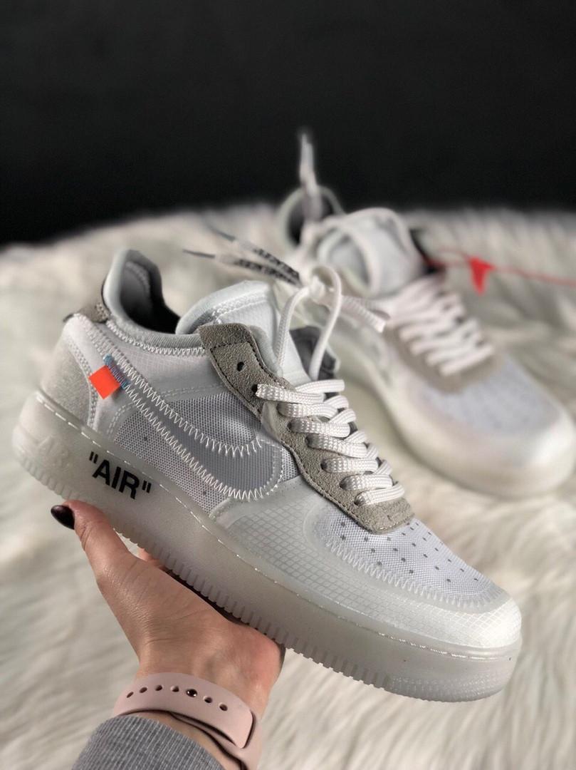 Мужские кроссовки Nike Air Force 1 Low Off-White, мужские кроссовки найк аир форс 1 лов офф вайт