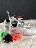 Мужские кроссовки Nike Air Force 1 Low Off-White, мужские кроссовки найк аир форс 1 лов офф вайт, фото 2