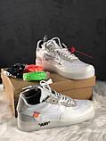 Мужские кроссовки Nike Air Force 1 Low Off-White, мужские кроссовки найк аир форс 1 лов офф вайт, фото 4