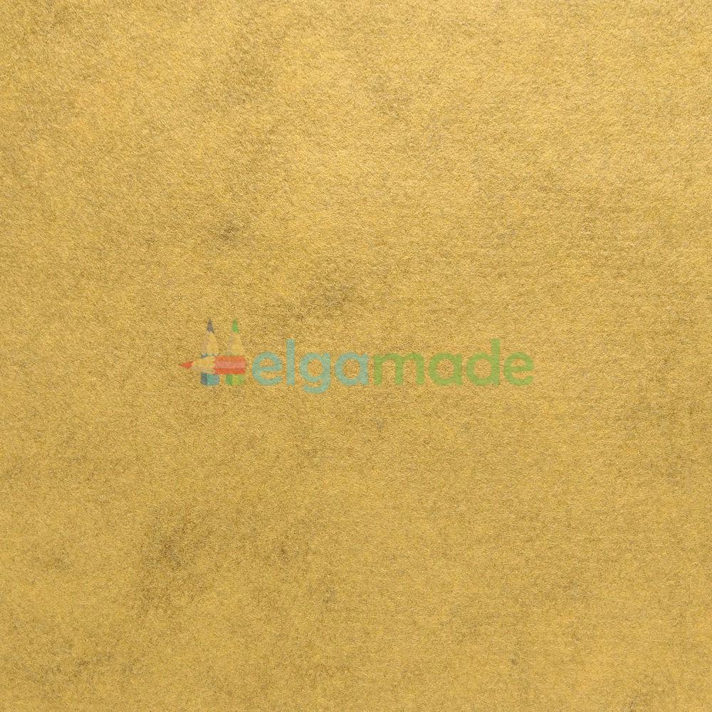Фетр американский МЕДОВАЯ ГОРЧИЦА меланж, 23x31 см, 1.3 мм, полушерстяной мягкий