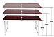 Стол складной для пикника  4 стула, + зонт 170 см Коричневый, фото 4