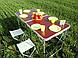 Стол складной для пикника  4 стула, + зонт 170 см Коричневый, фото 5