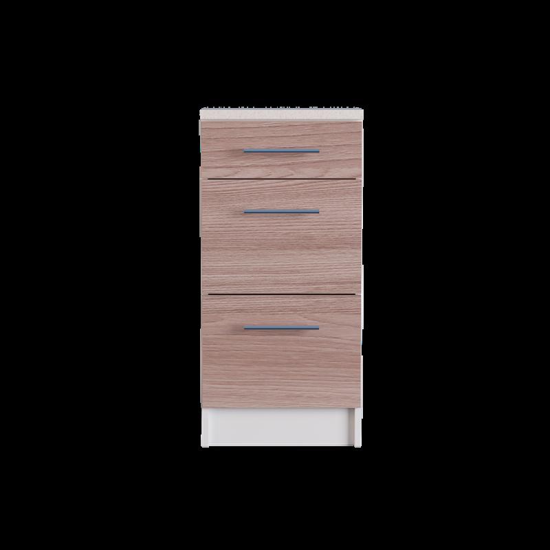 Модуль для кухни Нижний шкаф 400 с 3-мя выдвижными ящиками Эко