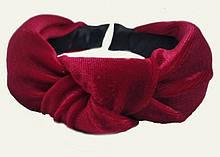Модный обруч чалма из велюровой ткани