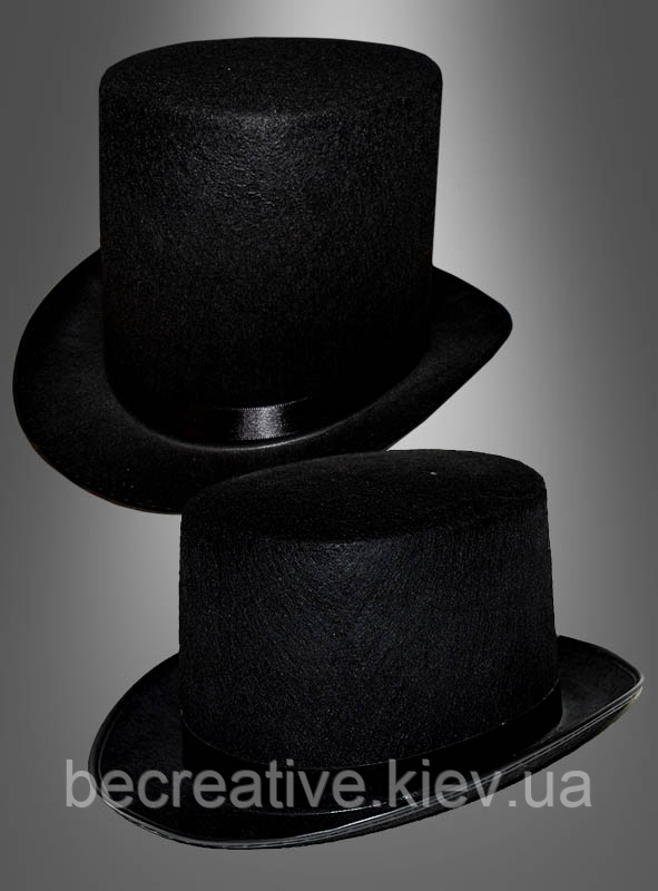 Черная шляпа-цилиндр для образов