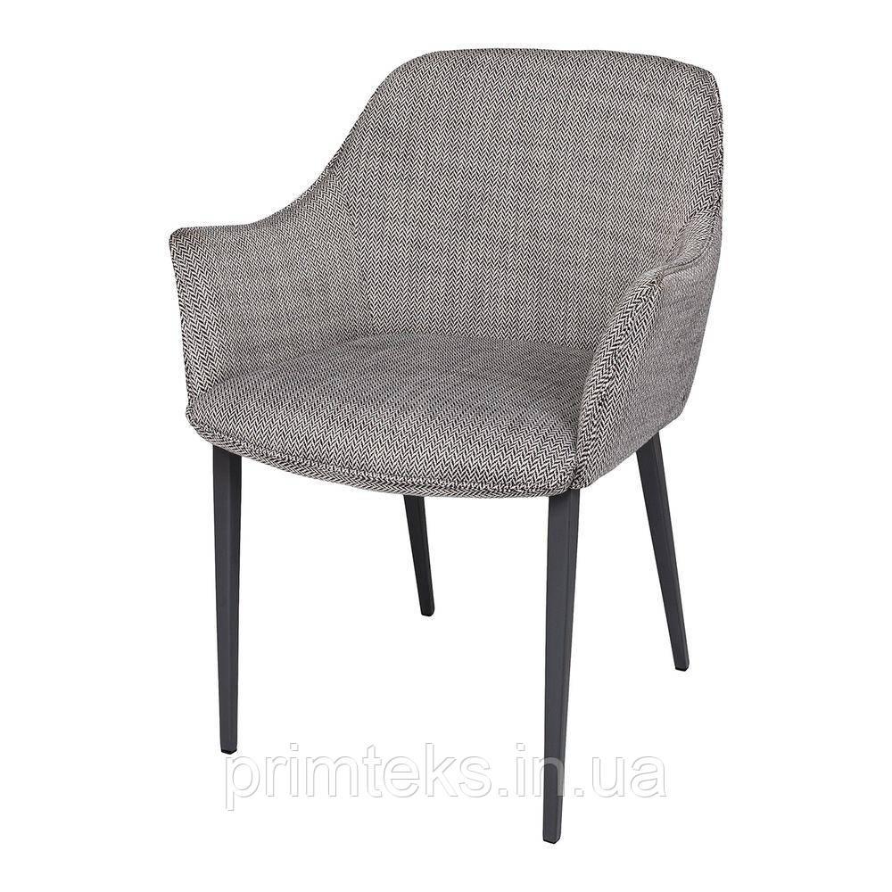 Кресло MILTON (Милтон) рогожка черно-белый