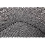 Кресло MILTON (Милтон) рогожка черно-белый, фото 3