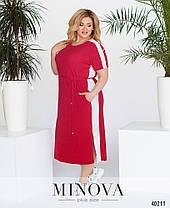 Повседневное женское платье батал, размер от 50 до 60, фото 3