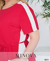 Повседневное женское платье батал, размер от 50 до 60, фото 2