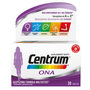Phizer Centrum ONA, multiefekt витамины минералы для женщин 30 таб