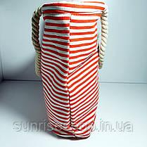 Пляжная сумка текстильная летняя мелкая полоса опт, фото 2