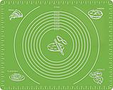 Комплект силиконовый антипригарный коврик для выпечки и раскатки теста и силиконовый пищевой судок (n-599), фото 2