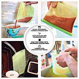 Комплект силиконовый антипригарный коврик для выпечки и раскатки теста и силиконовый пищевой судок (n-599), фото 5