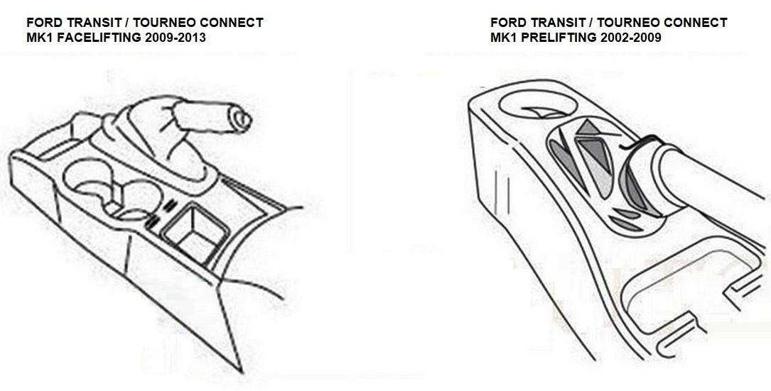 Підлокітник Armcik S1 з зсувною кришкою для Ford Transit / Tourneo Connect Mk1 2002-2009, фото 6