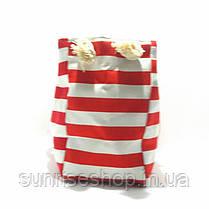 Пляжна Сумка текстильна річна для пляжу форма барильця, фото 3