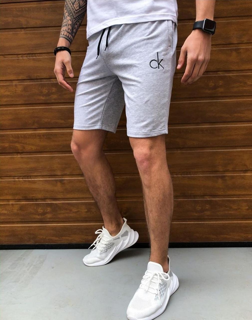 Шорты Calvin Klein мужские весна однотон двунитка  пенье S M L XL XXL со склада