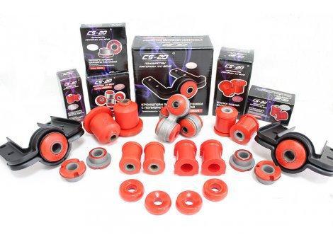 Комплект полиуретановых сайлентблоков и втулок 2190 CS-20