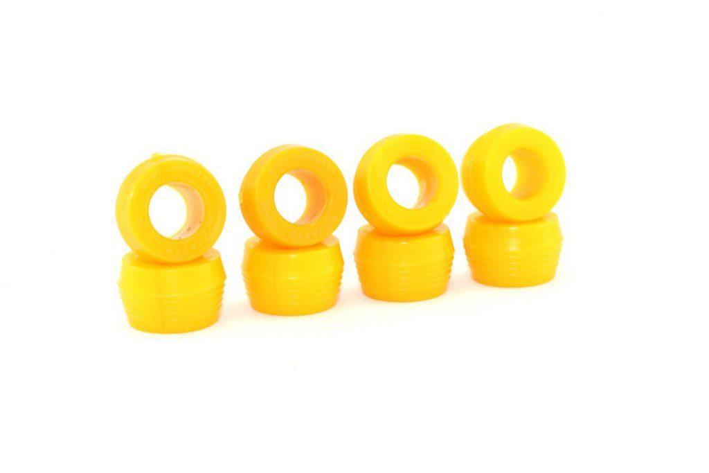Втулки задних амортизаторов.2101/07/2121 Нива/2123 Шевролет Нива (8шт) Полиуретан желтый комфорт CS-20
