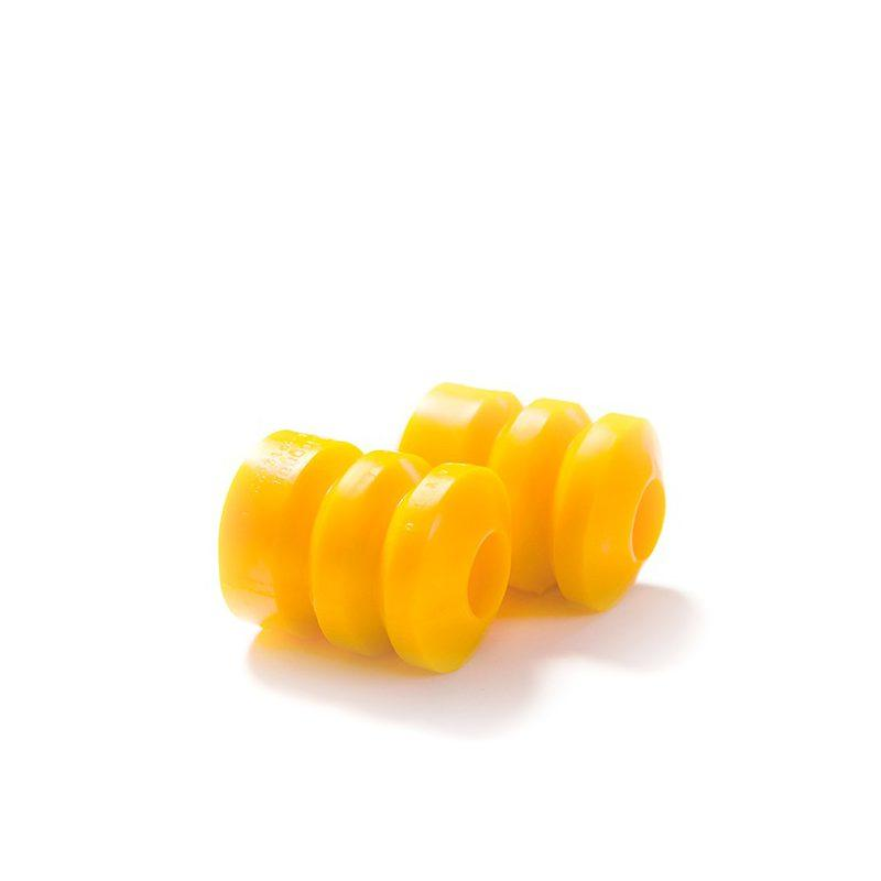 Полиуретановые отбойники задних стоек 2108/21082/2115 (2 отбойника + 2 пыльника 2108-2915681) желтый comfort.