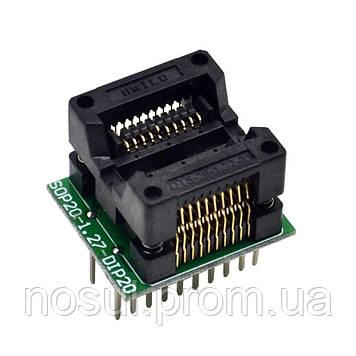 Переходник SOP20 - DIP20 для программатора TL866A TOP Xeltek Labtool EasyPRO SmartPRO Wellon Programmer IC Pro