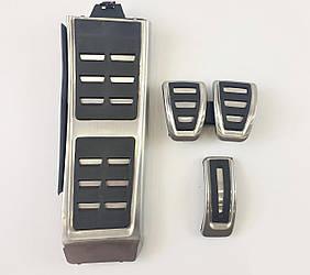 Накладки на педали Audi A4 B8 стиль S4 RS4 (мкпп)
