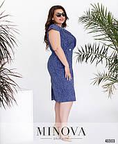Красивое платье из льна plus size, размер от 54 до 64, фото 3